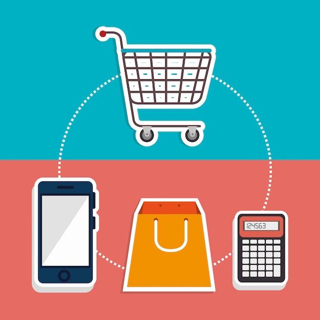 Marketing en ligne et vente en ligne Vecteur gratuit