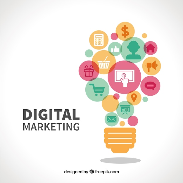 Le marketing numérique Vecteur gratuit