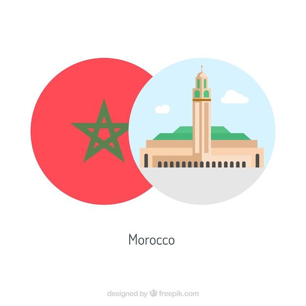Maroc culture éléments rétro Vecteur gratuit