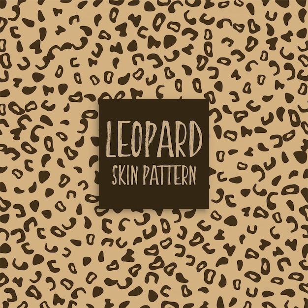 Marques de texture de peau de léopard Vecteur gratuit