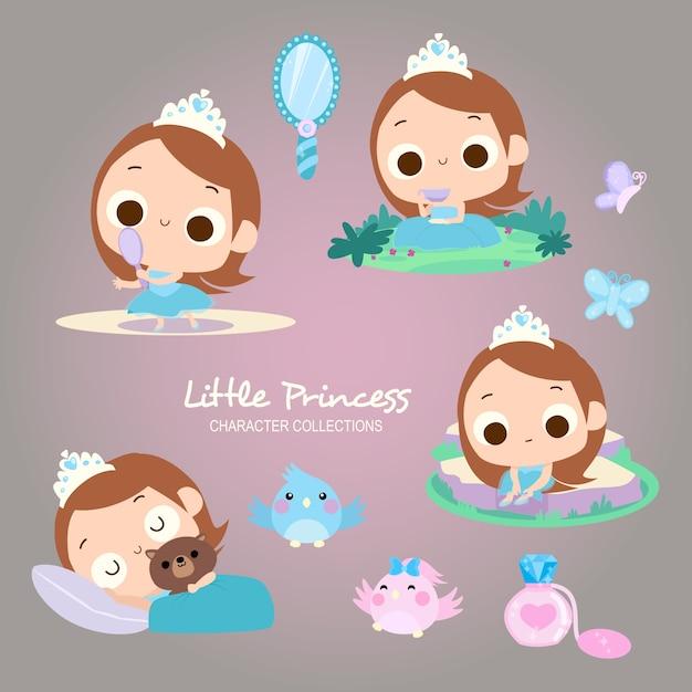 Marron petite princesse Vecteur Premium