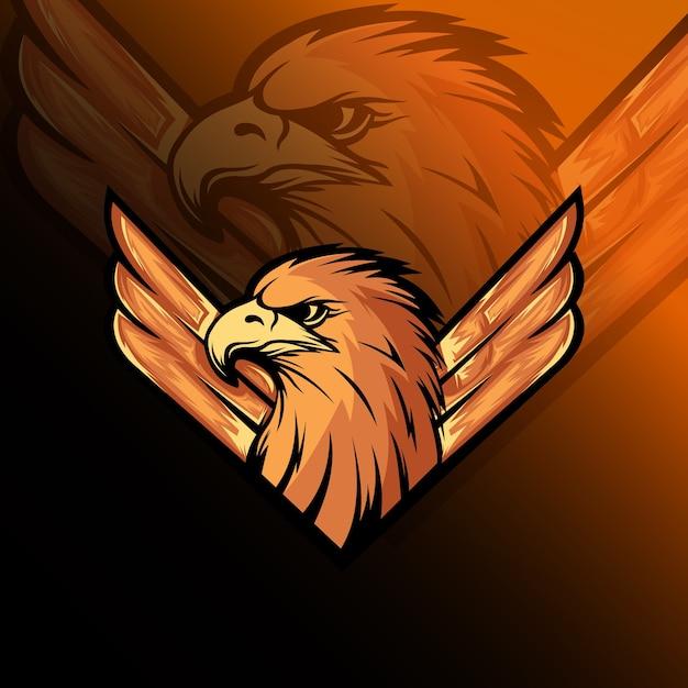La Mascotte De L'aigle Logo E Sport Vecteur Premium