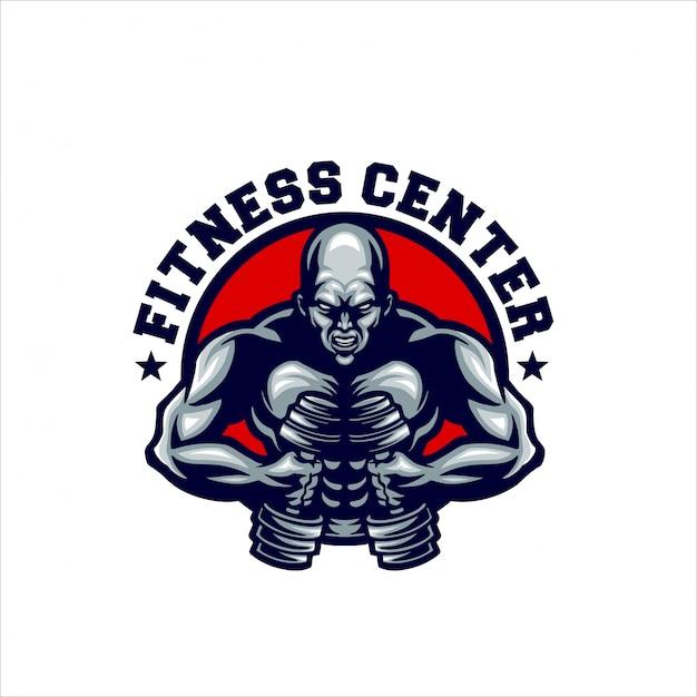Mascotte De Centre De Fitness Vecteur Premium