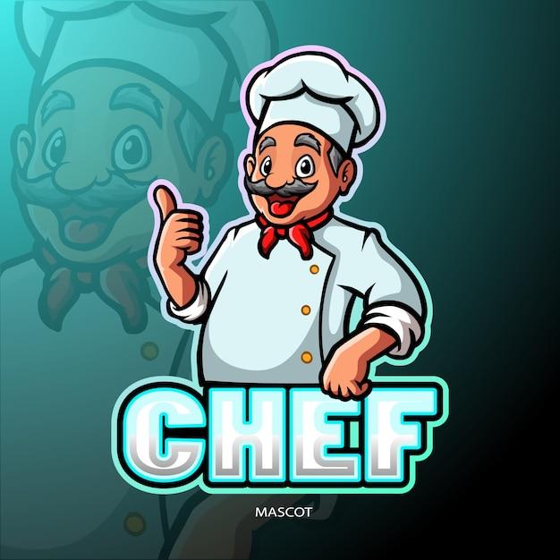 Mascotte De Chef Vecteur Premium