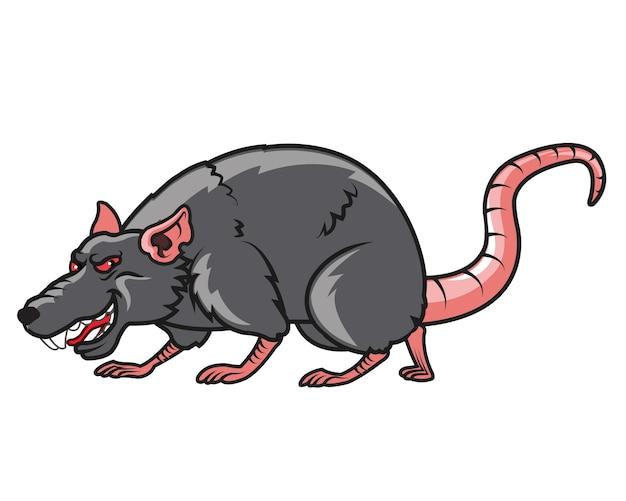 Mascotte de dessin anim de rat mal fique t l charger - Dessin d un rat ...