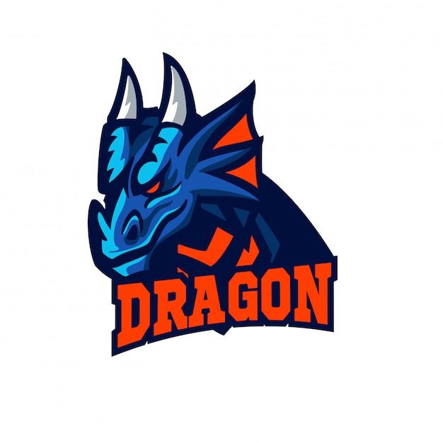 Mascotte De Dragon De Style Esports Vecteur Premium
