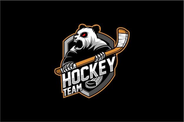 Mascotte de hockey sur glace Vecteur Premium