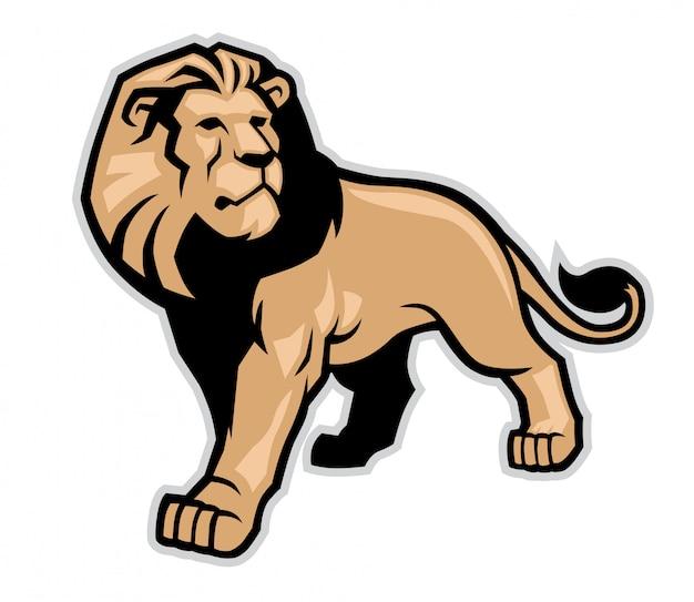 Mascotte de lion Vecteur Premium