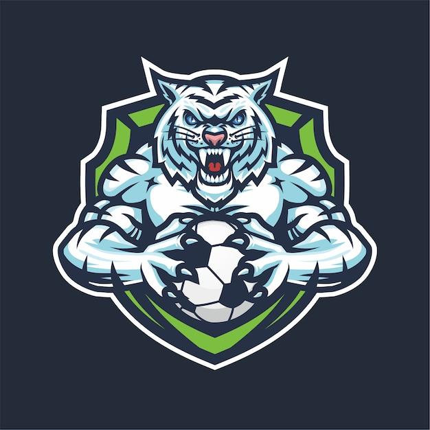Mascotte De Logo White Tiger Esport Pour Basket Vecteur Premium