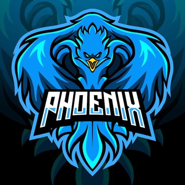 Mascotte D'oiseau Phoenix. Logo Esport Vecteur Premium
