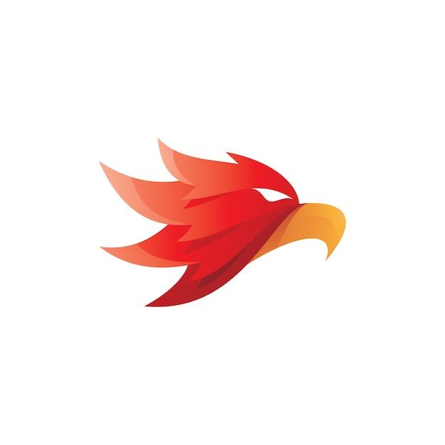 Mascotte De Tête De Faucon Aigle Oiseau Vecteur Premium