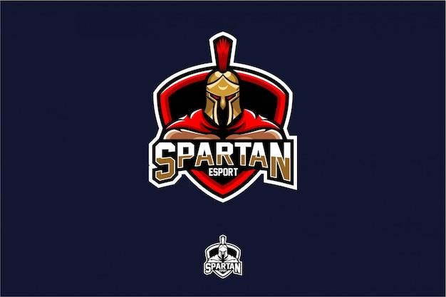 Mascotte de vecteur emblème spartan Vecteur Premium