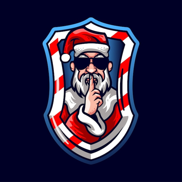 Mascottes De Style Père Noël Avec Des Lunettes Vecteur Premium