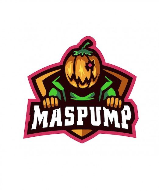 Maspump sports logo Vecteur Premium