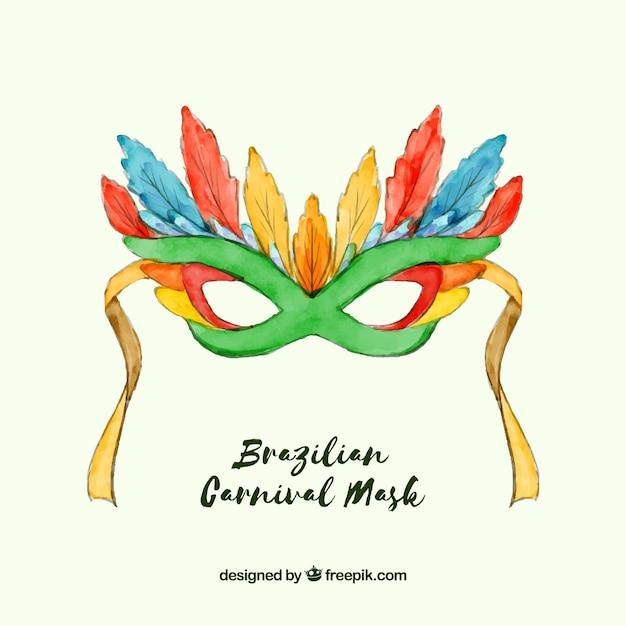 paquet à la mode et attrayant meilleures offres sur images détaillées Masque de carnaval brésilien aquarelle | Télécharger des ...
