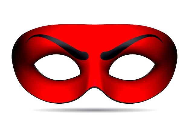 Masque De Carnaval Du Diable Vecteur Premium