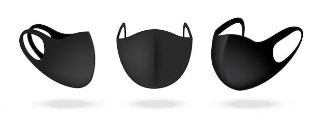 Masque Chirurgical Et Protection Antivirus Isolés. Respiration De Sécurité, Soins De Santé Et Conception De Concept Médical. Vecteur Premium