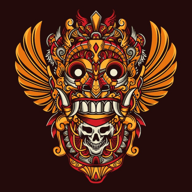 Masque de culture Vecteur Premium