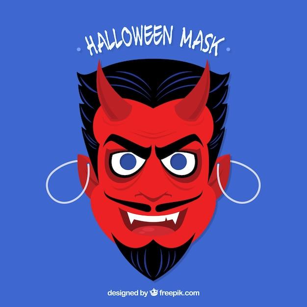 Masque De Diable Vecteur gratuit
