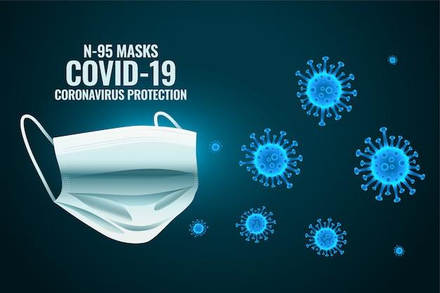 Masque Facial Médical Protégeant Le Coronavirus Pour Entrer Vecteur gratuit