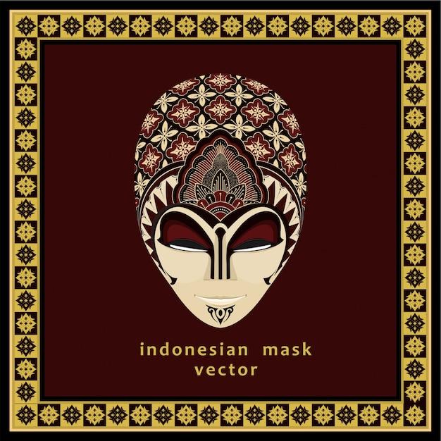 Masque indonésien Vecteur Premium