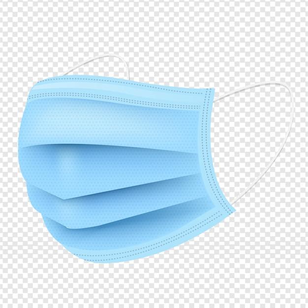 Masque Médical Fond Transparent Vecteur Premium