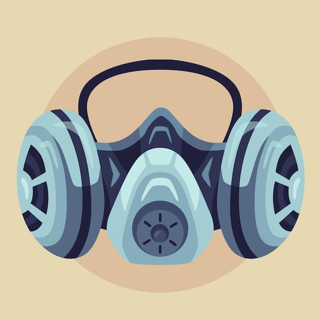 Masque Respiratoire à Gaz Vecteur Premium