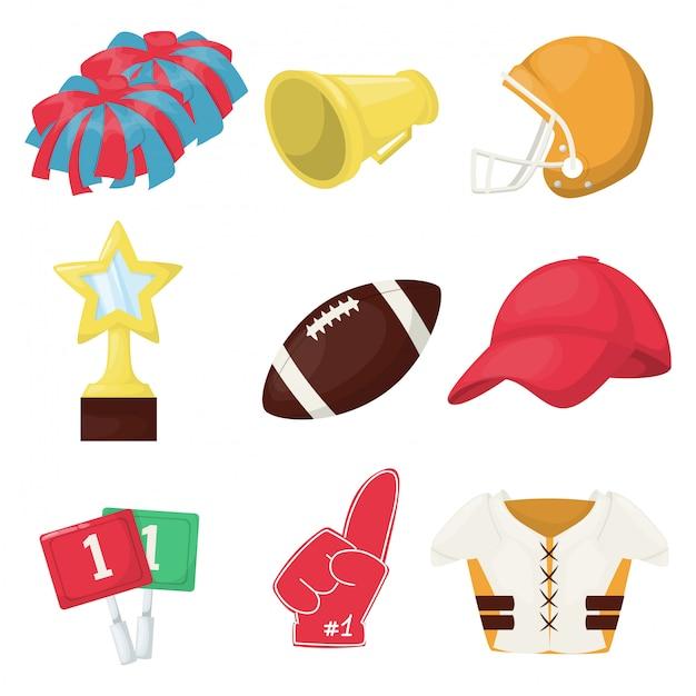 Match de sport jeu de championnat de football américain Vecteur Premium