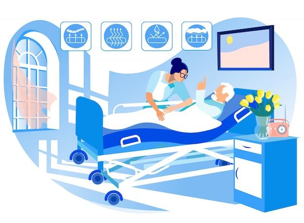 Matelas orthopédique pour lits médicaux. Vecteur Premium