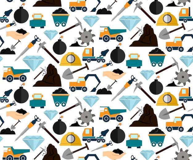 Matériel Et Machines Pour L'extraction Minière Et Minérale Vecteur gratuit