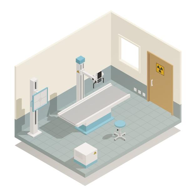 Matériel médical d'hôpital isométrique Vecteur gratuit