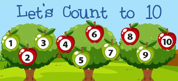 Math coutant pomme à dix Vecteur gratuit
