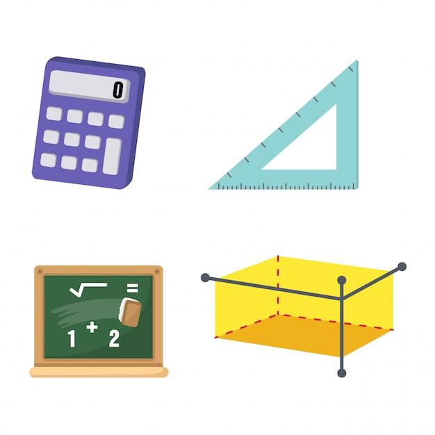 Mathématiques set vector Vecteur Premium