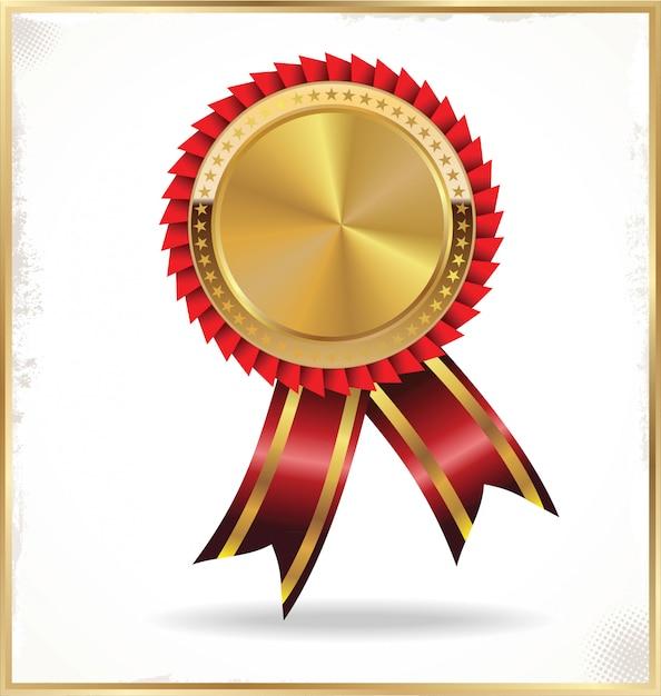 Médaille brillante Vecteur Premium