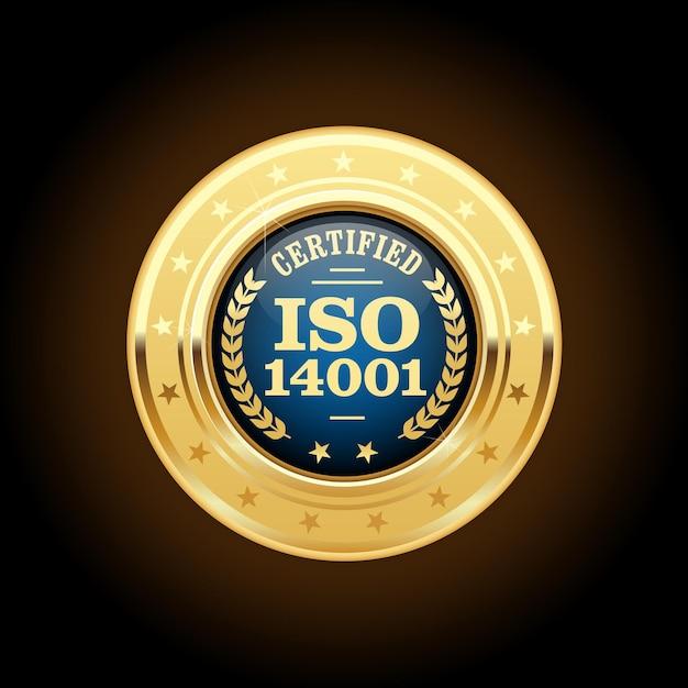 Médaille Certifiée - Insigne D'or Standard De Qualité Vecteur Premium