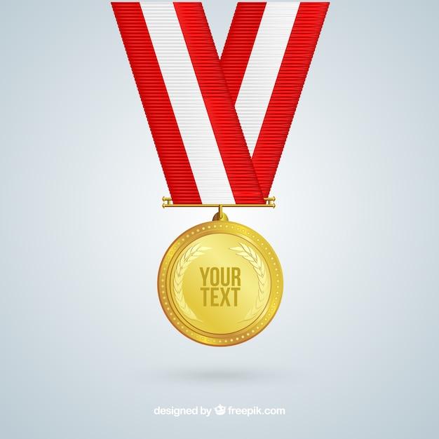 Médaille d'or Vecteur gratuit