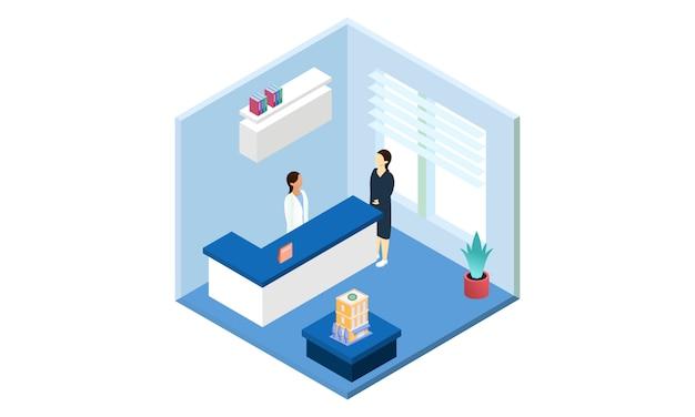Médecin Contrôle Médical Pour L'illustration Des Soins De Santé Vecteur Premium