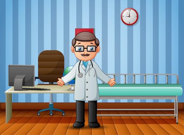 Médecin à L'hôpital Pas De Patients Vecteur Premium
