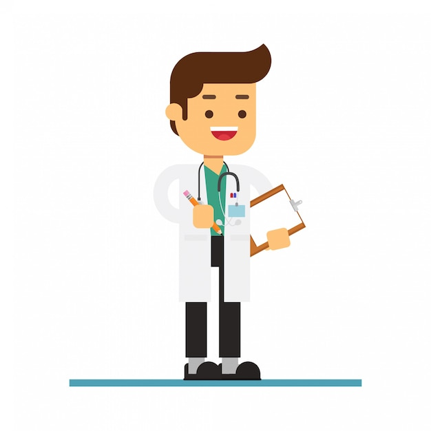 Médecin Vecteur Premium