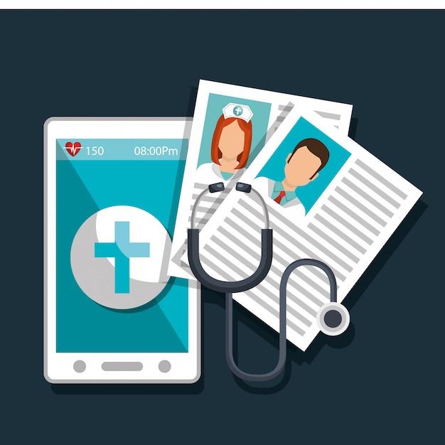 Médecine en ligne Vecteur gratuit