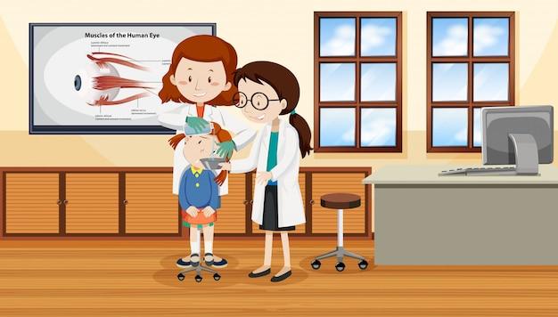 Des médecins aident un enfant blessé Vecteur gratuit