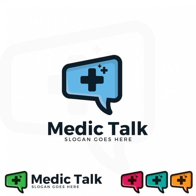 Medic illustration logo modèle illustration. Vecteur Premium