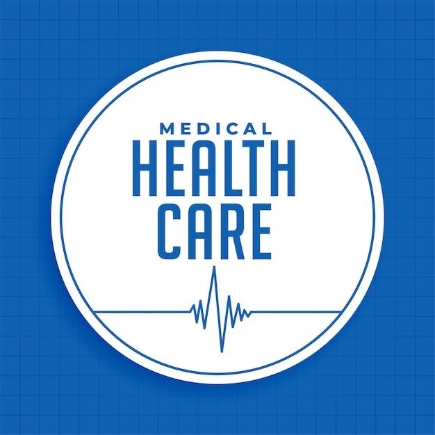 Medica Andl Sciences De La Santé Fond Bleu Vecteur gratuit