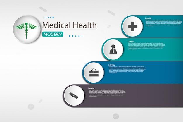 Medical sur fond d'infographie en papier Vecteur Premium