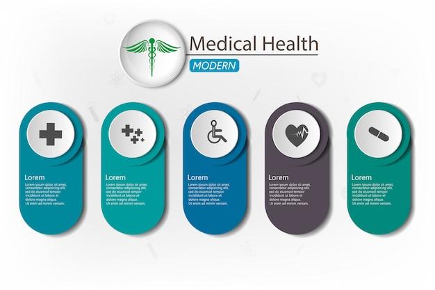 Médical sur fond de papier Vecteur Premium