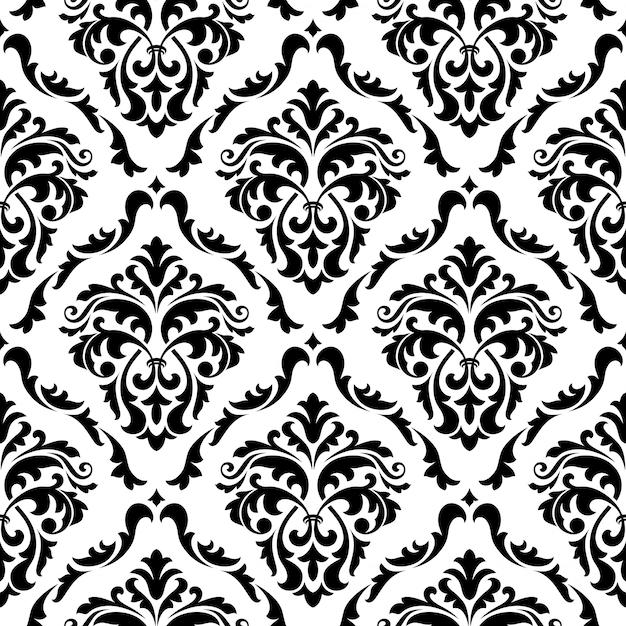 Médiévale Floral Sans Soudure De Fond Vecteur Premium
