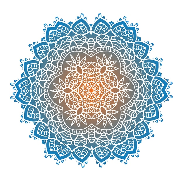 La Méditation Ethnique Du Mandala Fractal Psychédélique Ressemble à Un Flocon De Neige Vecteur Premium