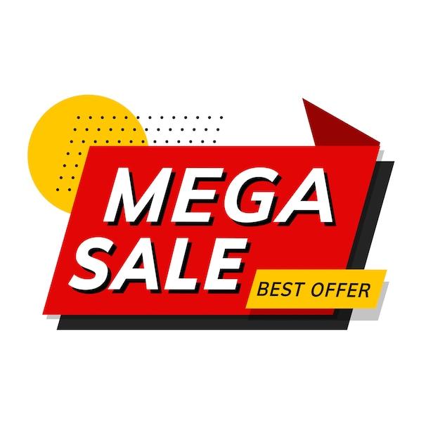 Mega vente meilleur offre boutique promotion publicité vecteur Vecteur gratuit