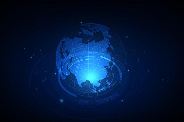 Meilleur concept internet du commerce mondial Vecteur Premium