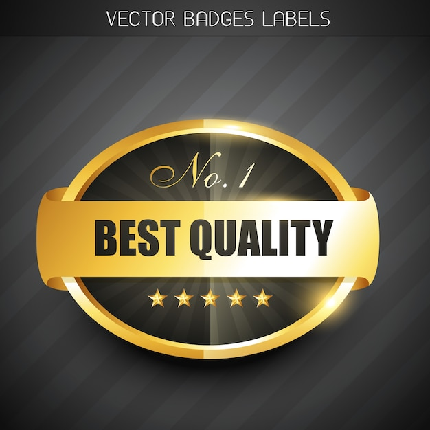 Meilleur label de qualité Vecteur gratuit